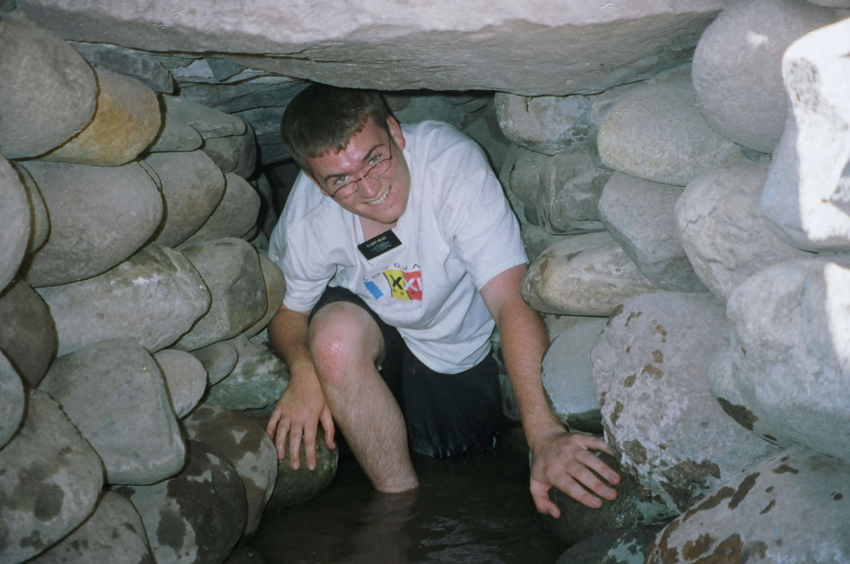 Passing through the aqueduct