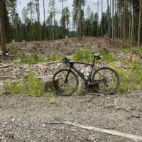 Taking a break on a Forest Service Road