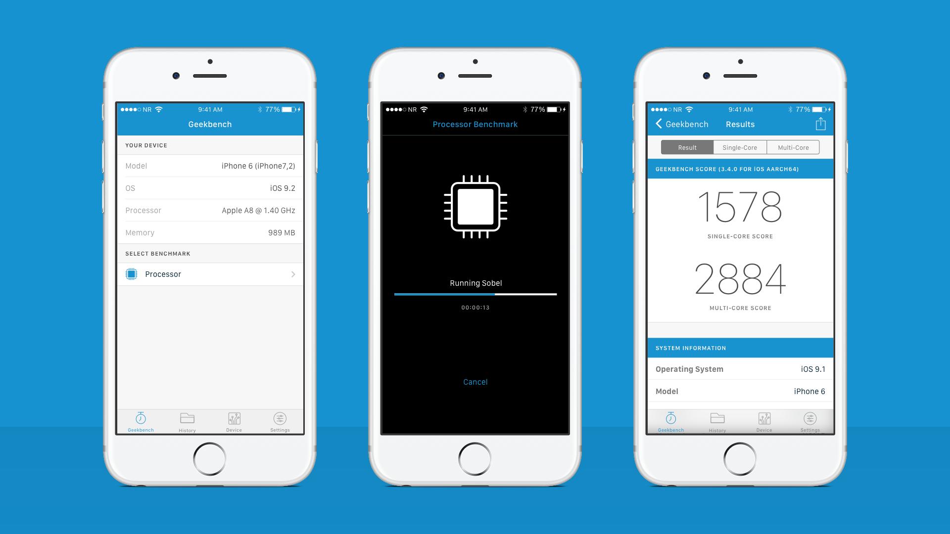 Geekbench 4: iPhone App