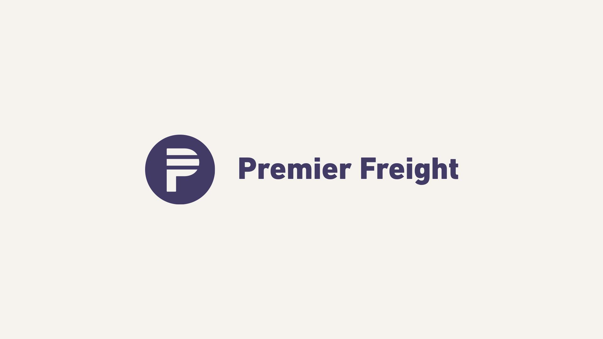 Premier Freight Logo: Horizontal Lockup