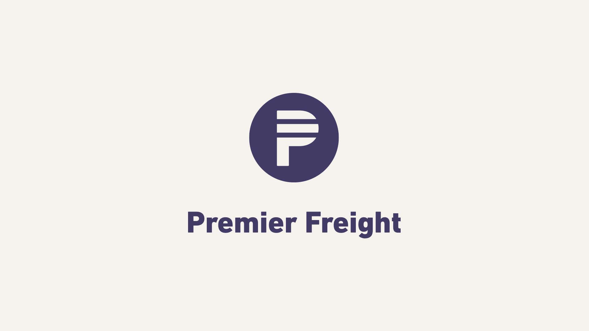 Premier Freight Logo: Vertical Lockup