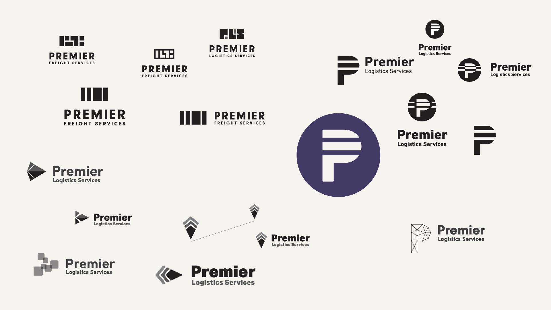 Premier Freight Logo: Mark Explorations