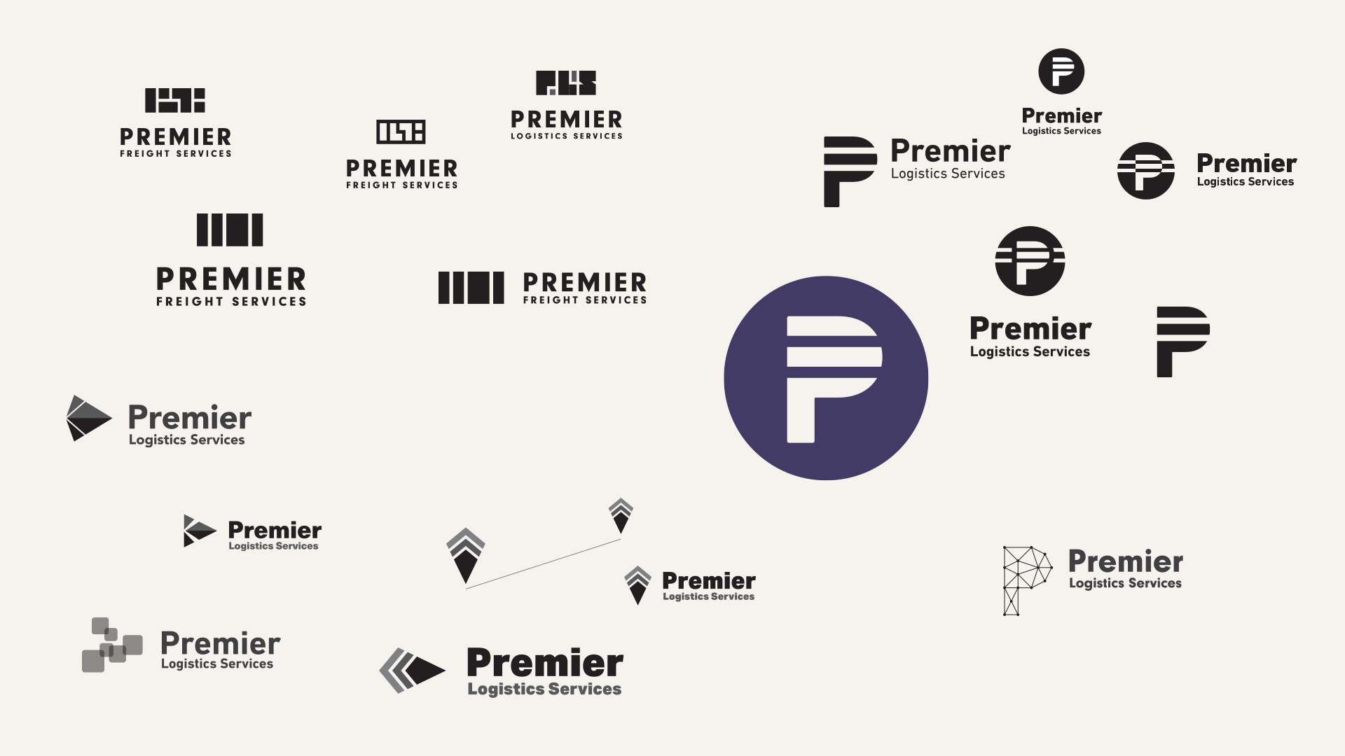 Premier Freight Logo: Mark Explorations