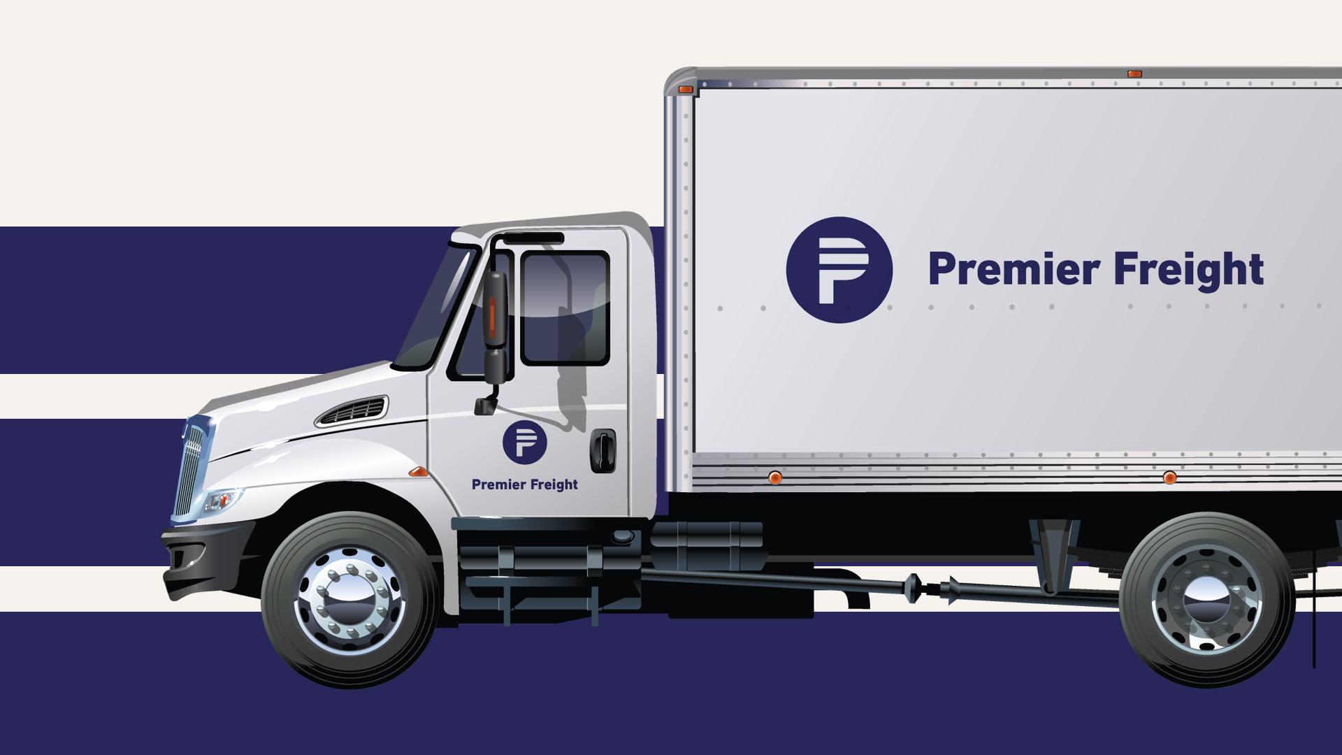 Premier Freight Logo: Truck Usage
